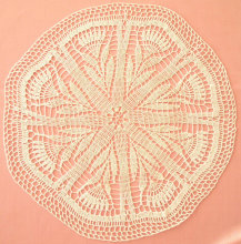 Corak cornflower crochet doily Crochet tablecover