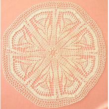 Kornblume Muster häkeln Deckchen häkeln tablecover