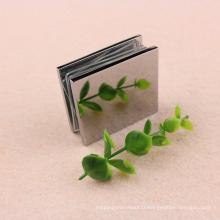 Matériau en laiton Fixation de porte en verre Clips de serrage