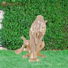 Figurinhas de jardim de tigre de polyresin decorativos customizados da China