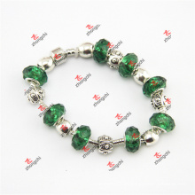 Grünes Glasperlen Schlange Kettenarmband (OAO60229)