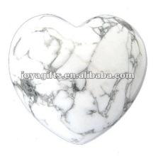 Corações de pedra de 40MM Howlite