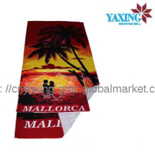 Polyester cheap customer design printed towel