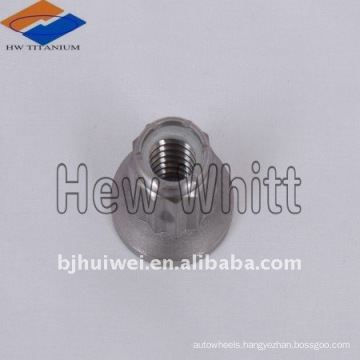 high end Gr 5 Titanium 12 point flange nyloc nut