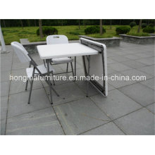 87cm Popular Outdoor Furniture of Plastic Folding Square Table From Chinese Manufacture
