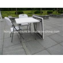87cm Móveis ao ar livre populares de mesa quadrada dobrável plástica da fabricação chinesa