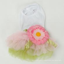 Chien Daisy vêtements de robe de chien de tournesol d'été Pet Cat Princess vêtements
