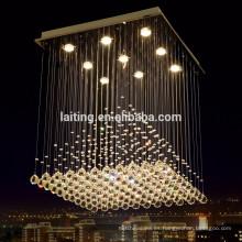 Lámpara de escalera colgante araña de cristal 92037