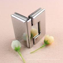 Bisagra de la puerta del pivote de la ducha de la puerta de vidrio a vidrio de 90 grados con alto grado