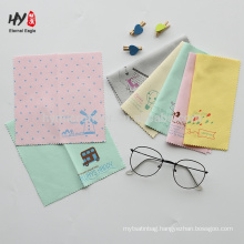 high quality custom design logo microfiber glasses cleaning cloth