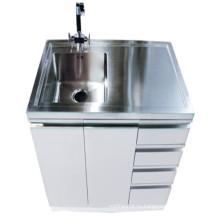 Белый шкаф ванной комнаты нержавеющей стали (1000)