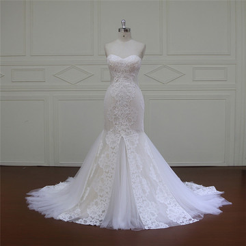 A-Line Bridal Dress Netting Beading Sash (XF16006)