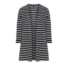 Striped Jersey Blazer Women Jacket