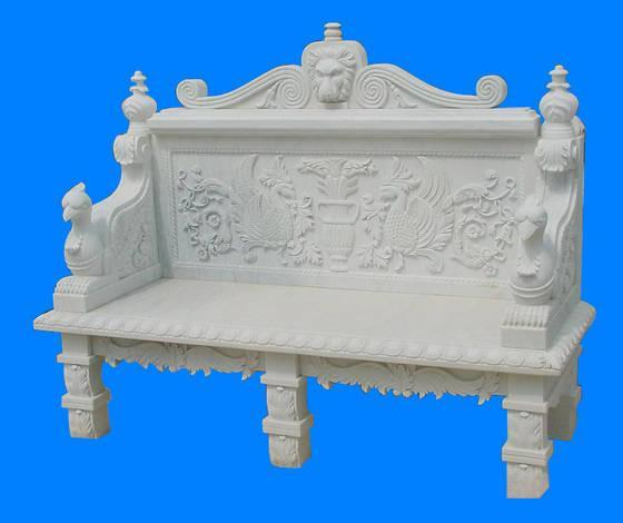Carved Stone Garden Benches