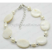 Fashion White Pearl Shell Beaded Anklet