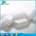 Folha ondulada de policarbonato de policarbonato de parede dupla de 100% Eco-friendly