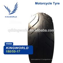 Pneu de motocyclette 4,50-17 80 / 100-17 100 70 17,180 / 55-17 110/90 17 Choix de qualité des pneus de motocyclette Choix du fournisseur