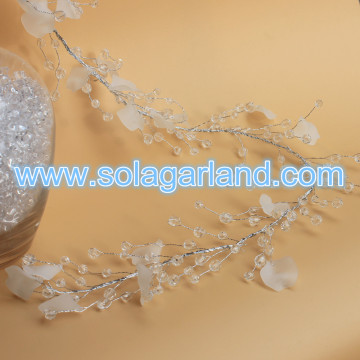 Fashion Frost Petal Beaded Branch zilverdraad