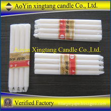 white wax taper candles