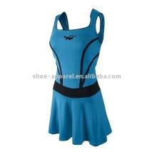 Faldas de tenis de mujer azul de alta calidad con pantalones cortos al por mayor