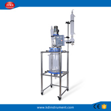Teflon lab jacketed glass reactor machine 20L