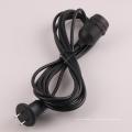 Черный светящийся шнур с гнездом E26