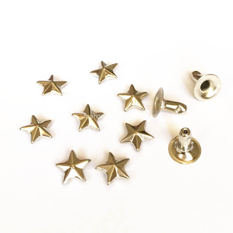 8mm Silver Star Rivets for Leathercrafts