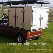 Carro de golf eléctrico de 2 plazas 48V con caja de carga para servicio de carrito de comida