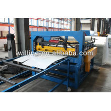 Simple steel slitting and cut to length machine