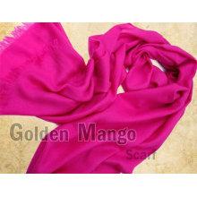 Las bufandas de lana de moda de lana de seda sólida