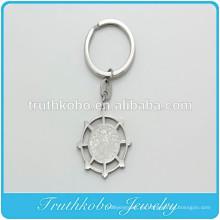 TKB - K0009 Comercio al por mayor Padre Oración Padre Acero Inoxidable Llavero de Plata Religioso Colgante Encanto