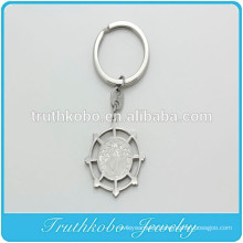 TKB - K0009 Wholesale Father Prayer Padre Stainless Steel Silver Keychain Religious Pendant Charm