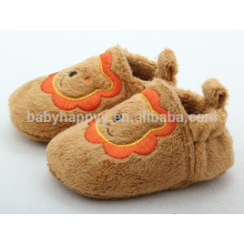 Cute lion head indoor flat baby slipper