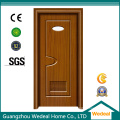 Белый Prehung интерьер ПВХ деревянные американские панели двери (WDHC01)