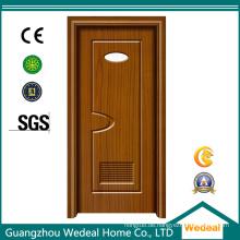 Weiße Prehung Innen-PVC-hölzerne amerikanische Platten-Tür (WDHC01)