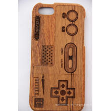 Tree Pattern Retro Style Wood para iPhone Estuche con Laser Engrave Bamboo Wood Cherry Wood Cove