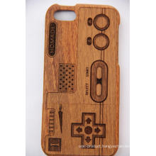 Tree Pattern Retro Style Wood for iPhone Case with Laser Engrave Bamboo Wood Cherry Wood Cove