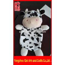 Plush animal saco de água quente atacado plush vaca tampa do saco de água quente