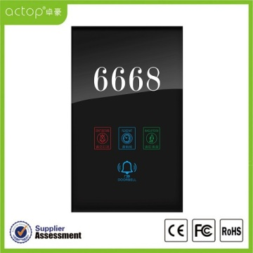 Panel Kaca Tempered Hotel Doorplate Nomor Elektronik
