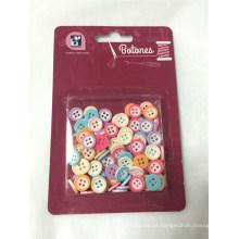 Kit de costura de botão colorido