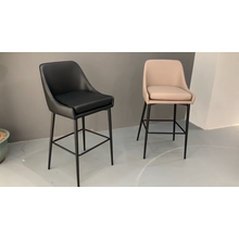 luxury high chair bar stool gold velvet Modern with back