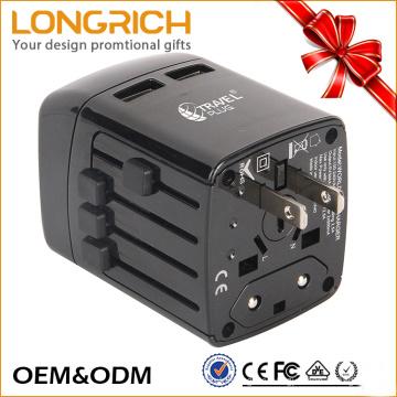 Professioneller und tragbarer Reiseadapter mit hochwertigem tragbarem Universalwegadapter mit USB