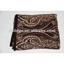 100% Kaschmir gestrickte bedruckte Decken / Bettdecken