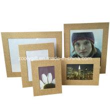 """8.5 X 11 """"marrón de papel texturizado marco de fotos de cuero"""