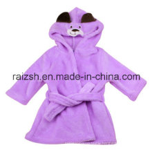 Baby Coral Fleece Bathrobe with Hood