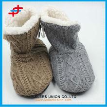 2015 hot sale ladies winter fashion super soft home half boots