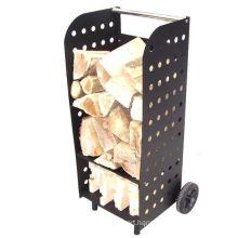 Log Carrying and Storage Box Trolley Firewood Cart Basket Log Holder