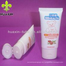 Crema facial suave para BB, tubo de plástico, botella cosmética