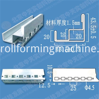 Nine Fold Profile Electric Cabinet Roll Forming Machines