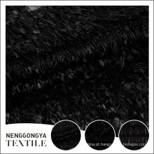 Personalizado macio luxo deaign especial preto allover bordado tecido